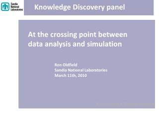 At the crossing point between data analysis and simulation