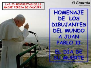 HOMENAJE   DE  LOS  DIBUJANTES DEL MUNDO A JUAN PABLO II  EL DÍA DE SU MUERTE