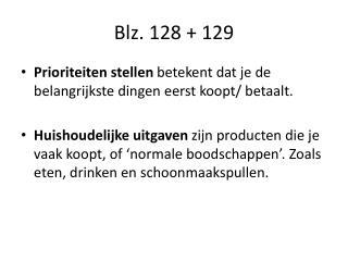 Blz. 128 + 129