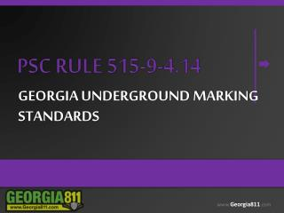Georgia underground marking standards