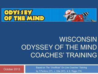 Wisconsin  Odyssey of the Mind  Coaches' Training