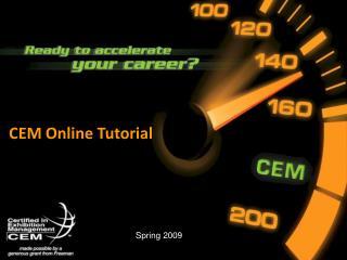CEM Online Tutorial