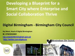 Developing a Blueprint for a Smart City where Enterprise and  Social Collaboration Thrive