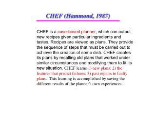 CHEF (Hammond, 1987)