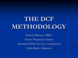 THE DCF METHODOLOGY