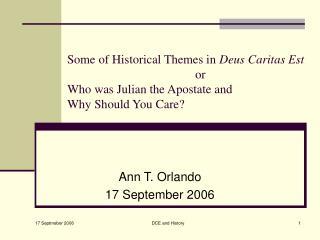 Ann T. Orlando 17 September 2006