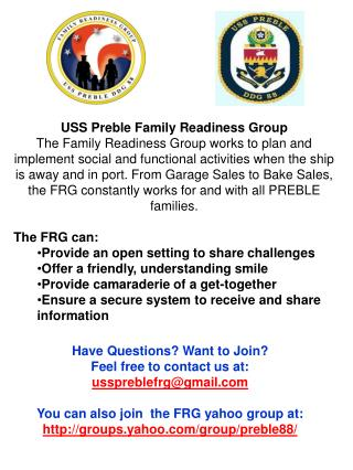 USS Preble Family Readiness Group
