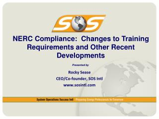 NERC Compliance:  Changes to Training Requirements and Other Recent Developments