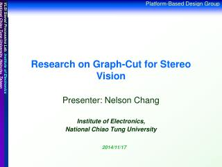 Research on Graph-Cut for Stereo Vision