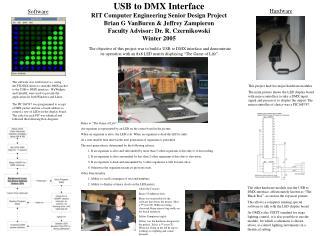 USB to DMX Interface RIT Computer Engineering Senior Design Project