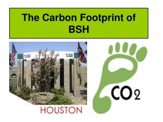 The Carbon Footprint of BSH