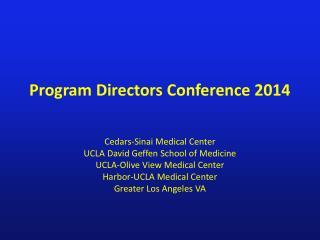 Program Directors Conference 2014