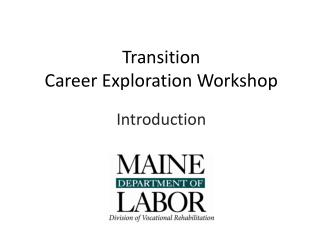 Transition  Career Exploration Workshop