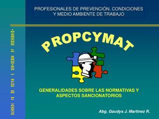 PROFESIONALES DE PREVENCI N, CONDICIONES Y MEDIO AMBIENTE DE TRABAJO