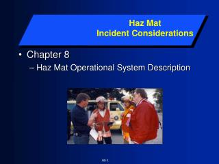 Chapter 8 Haz Mat Operational System Description