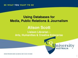 Using Databases for  Media, Public Relations & Journalism
