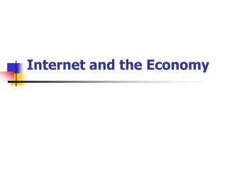 Internet and the Economy