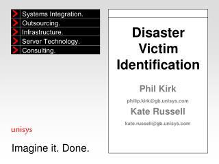 Disaster Victim Identification