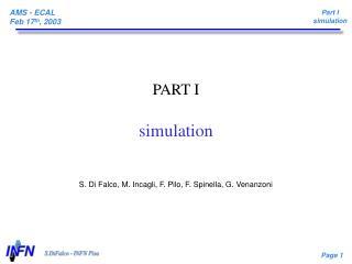 PART I simulation