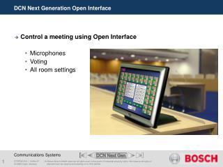 DCN Next Generation Open Interface
