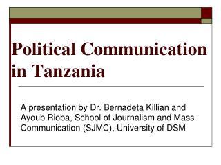 Political Communication in Tanzania