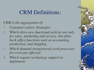 CRM Definitions: