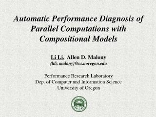 Parallel Performance Diagnosis