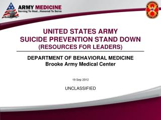 UNITED STATES ARMY SUICIDE PREVENTION STAND DOWN (RESOURCES FOR LEADERS)