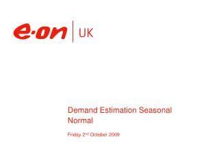 Demand Estimation Seasonal Normal