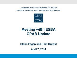 Meeting with IESBA CPAB Update
