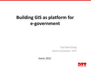 Building GIS as platform for  e-government