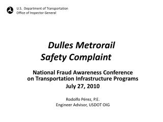Dulles Metrorail Safety Complaint