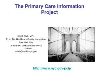 The Primary Care Information Project