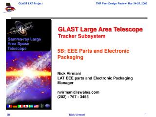 GLAST Large Area Telescope Tracker Subsystem