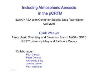 Including Atmospheric Aerosols in the pCRTM
