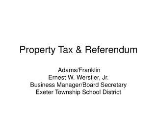 Property Tax & Referendum