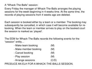 "A ""Whack-The-Balls"" session:"