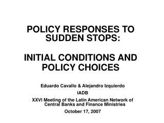 Eduardo Cavallo & Alejandro Izquierdo IADB