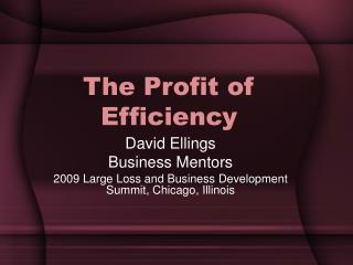 The Profit of Efficiency