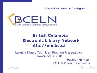 British Columbia     Electronic Library Network eln.bc