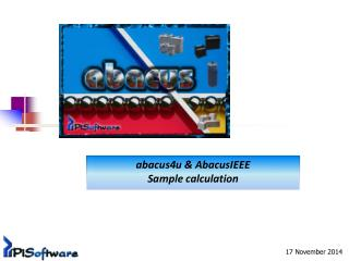 abacus4u &  AbacusIEEE Sample  calculation