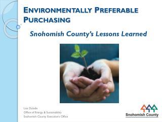 Environmentally Preferable Purchasing