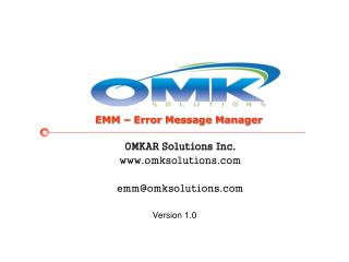 OMKAR Solutions Inc. omksolutions emm@omksolutions