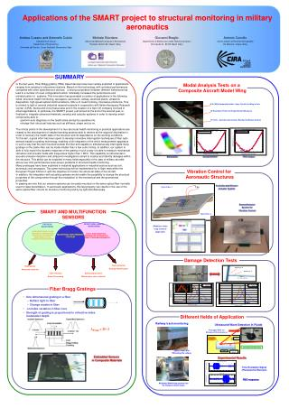 Applications of the SMART project to structural monitoring in military aeronautics