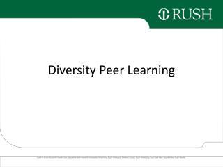 Diversity Peer Learning