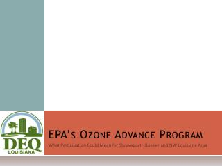 EPA�s Ozone Advance Program