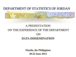 DEPARTMENT OF STATISTICS OF JORDAN