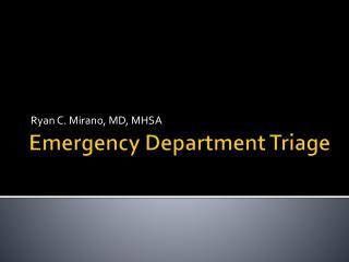 Emergency Department Triage
