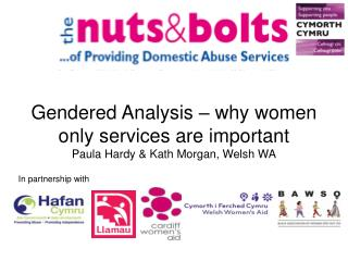 Gendered Analysis   why women only services are important Paula Hardy  Kath Morgan, Welsh WA