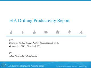 EIA Drilling Productivity Report